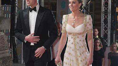 Kate Middleton Arrived at the BAFTAs in a Stunning Alexander McQueen Gown