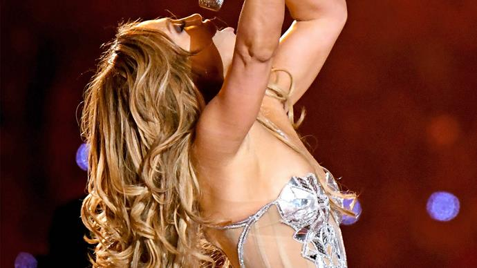 Jennifer Lopez at the 2020 Super Bowl.