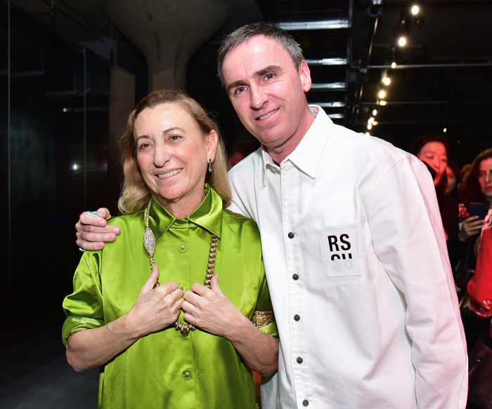 Miuccia Prada and Raf Simons.
