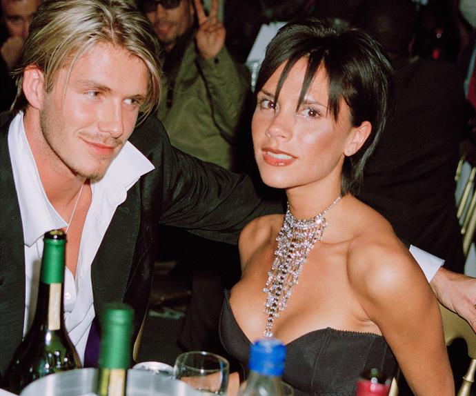 Victoria and David Bechkam in 1999.