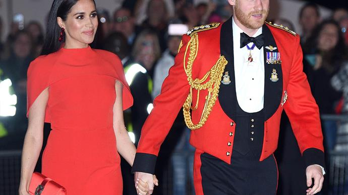 Meghan Markle and Prince Harry attending the Mountbatten Festival 2020.