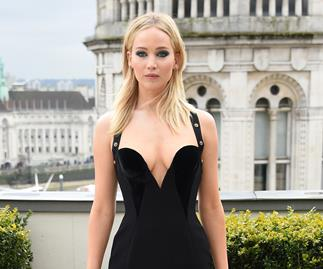 Jennifer Lawrence Versace dress.