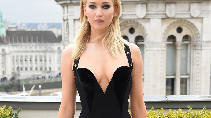 Jennifer Lawrence Versace dress.