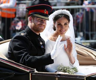 Prince Harry and Meghan Markle at their 2018 royal wedding.