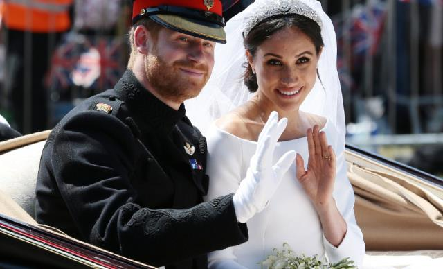 Prince Harry and Meghan Markle at their 2018 royal wedding.