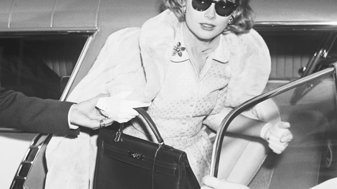 Grace Kelly carrying an Hermès 'Kelly' bag.