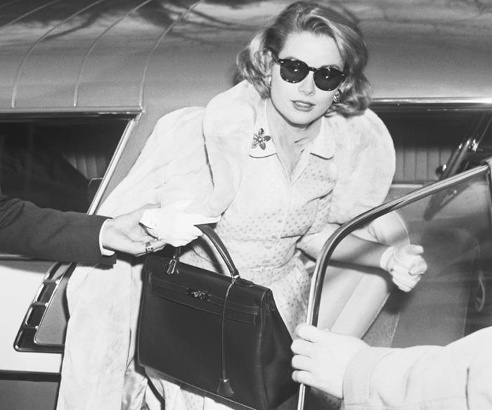 Grace Kelly carrying an Hermès 'Kelly' bag.