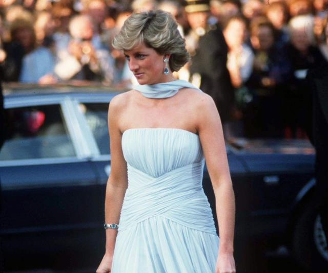 Princess Diana wearing Catherine Walker at the 1987 Cannes Film Festival.