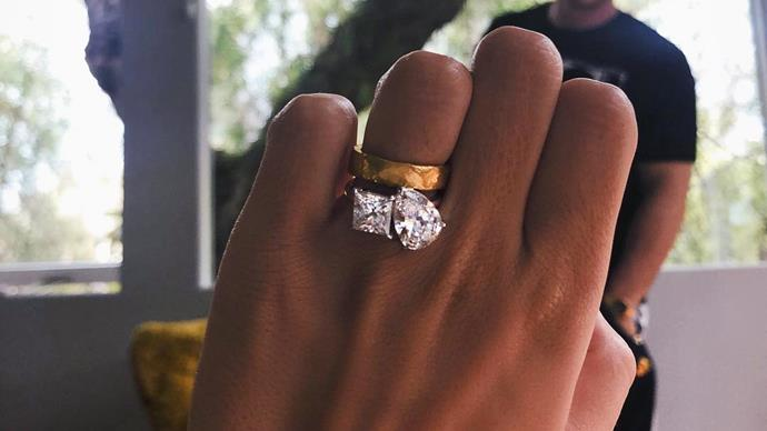 Emily Ratajkowski's engagement ring.