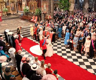 Prince William and Kate Middleton at their 2011 royal wedding.