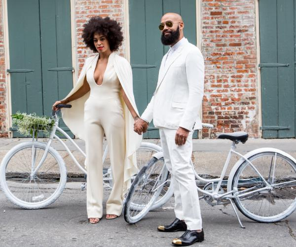 Solange Knowles at her 2014 wedding.