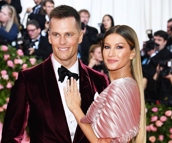 Gisele Bündchen and Tom Brady.