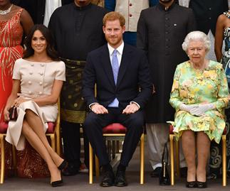 Meghan Markle Prince Harry and Queen Elizabeth.