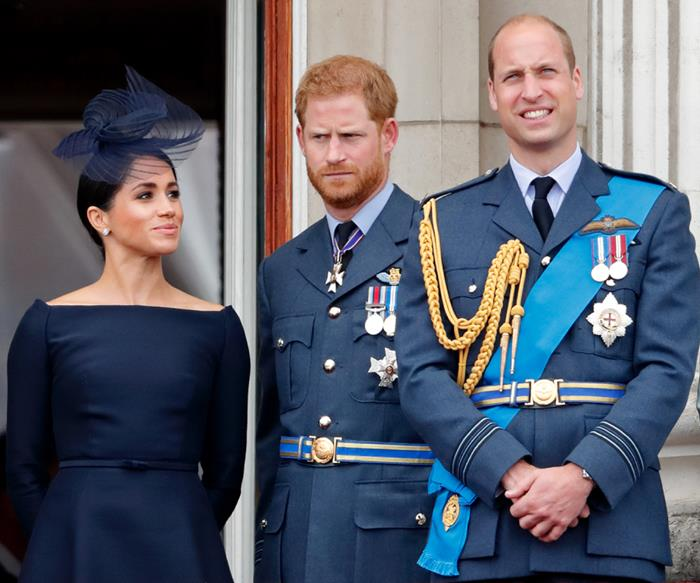 Meghan Markle, Prince Harry and Prince William.