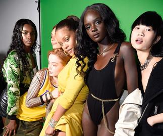 Rihanna Fenty models.