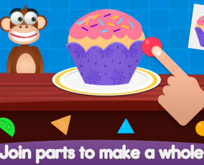***Shiny Party – Shapes & Colours (iTunes, free)***  This app introduces kids to basic geometry, shapes and colours as they help organise a surprise birthday party.  Preschoolers will learn early mathematical skills without even realise it.  Suitable for children aged five and under.  Available for iPad and iPhone