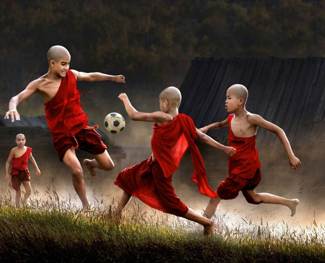Children playing in Myanmar