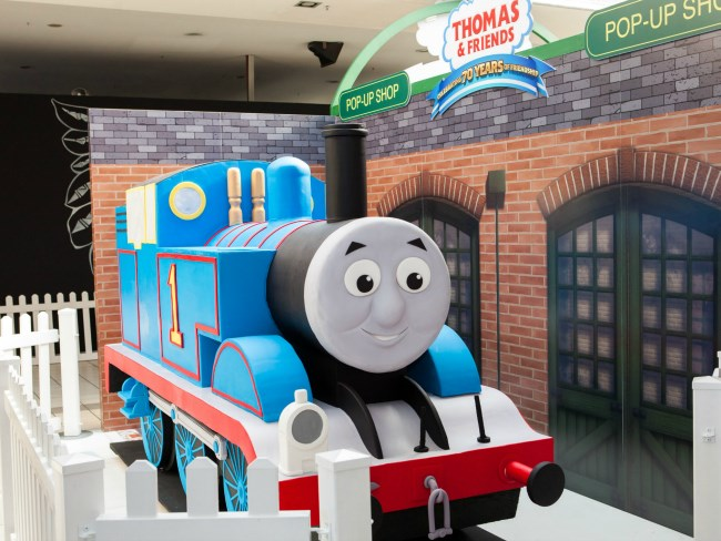 Giant Thomas the Tank Engine Cake