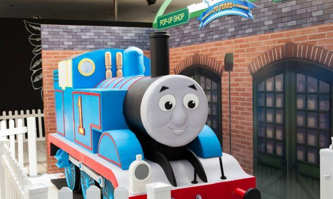 Giant Thomas the Tank Engine Cake