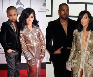 Kids dressed-up as music stars at the Grammy Awards