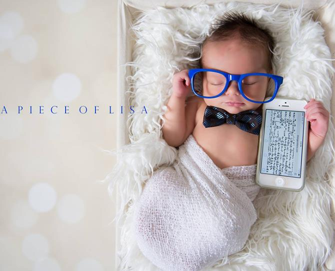 You're never too young to start learning, right?! A genius in the making.  Image via A Piece of Lisa Photography