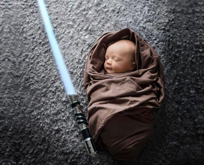 The force is strong in this one.  Image via Staci Noel Photography