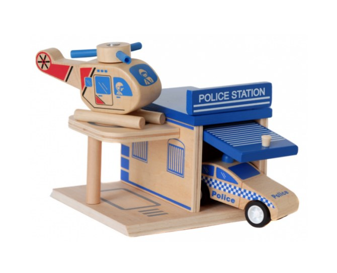 The Click Clack Police Station is great for children aged 3+  With colourful pieces that come apart and easily click back together this play set is a fun way for children to practice gross motor skills and enjoy their imagination.  $19.95 from Flying Penguin