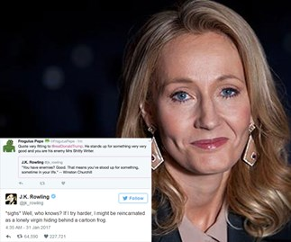 J.K. Rowling's been shutting down Twitter trolls left, right and centre