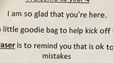 Queensland teacher's cute start-of-year note to her Year 4 class goes viral