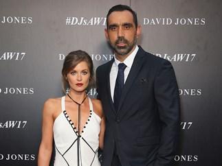 Adam Goodes with wife Natalie Croker