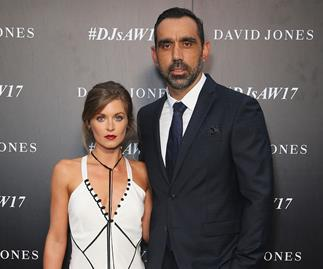 Adam Goodes with wife Natalie Croker