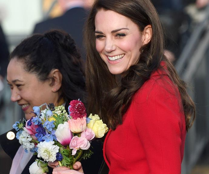 Earlier that day, The Duchess of Cambridge attended Mitchell Brook Primary School in London.