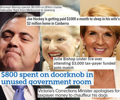 8 of the most ridiculous things Australian politicians have charged the taxpayer for in recent years