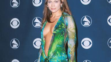 Another celeb wore JLo's iconic Grammy's dress BEFORE her and everything we know is a lie
