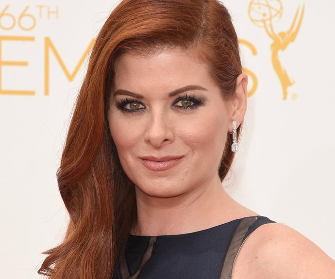 Debra Messing has a thing for classic novels, checking in as retro 'Ava Harper'.
