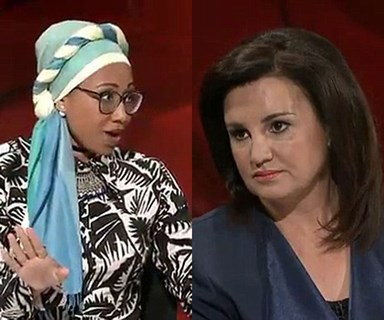 Jacqui Lambie has Q&A screaming match with Muslim youth leader over views on Muslim ban
