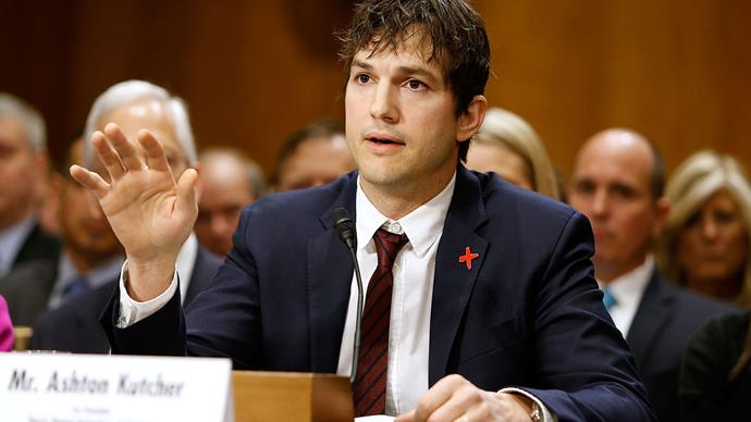 Watch Ashton Kutcher's Passionate Speech Against Child Trafficking