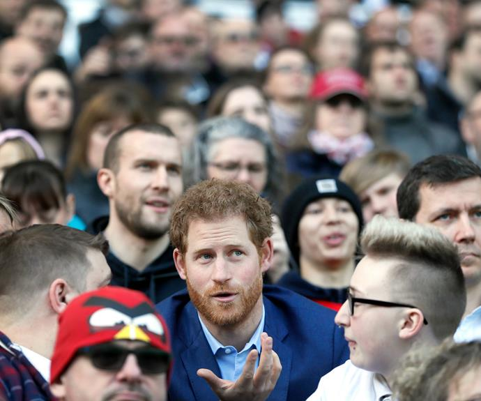 Prince Harry Surprises Rugby Fans At Twickenham