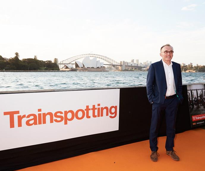 *T2 Trainspotting* director Danny Boyle was all smiles on the orange carpet for the Sydney premiere of the highly anticipated sequel.