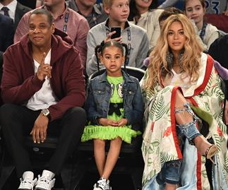 Jay Z, Blue Ivy Carter and Beyonce