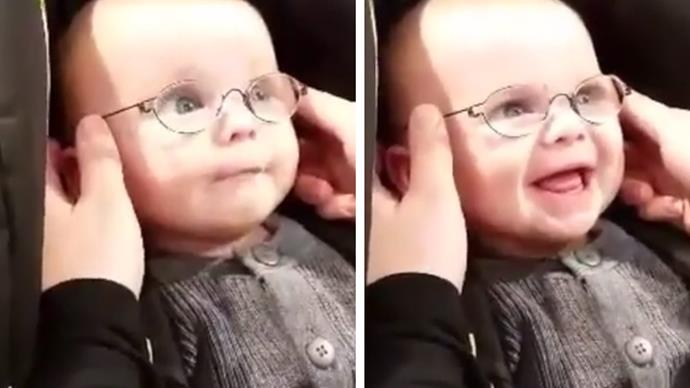 Danish baby sees mum for the first time