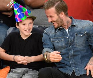 Cruz and David Beckham