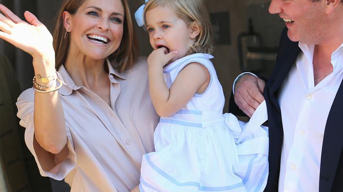 Princess Leonore, Princess Madeleine and Chris O'Neill