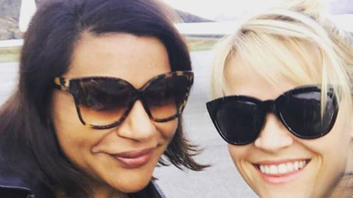 Reese Witherspoon and Mindy Kaling in New Zealand
