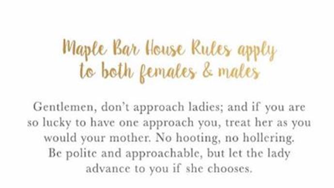New bar forbids men from approaching women