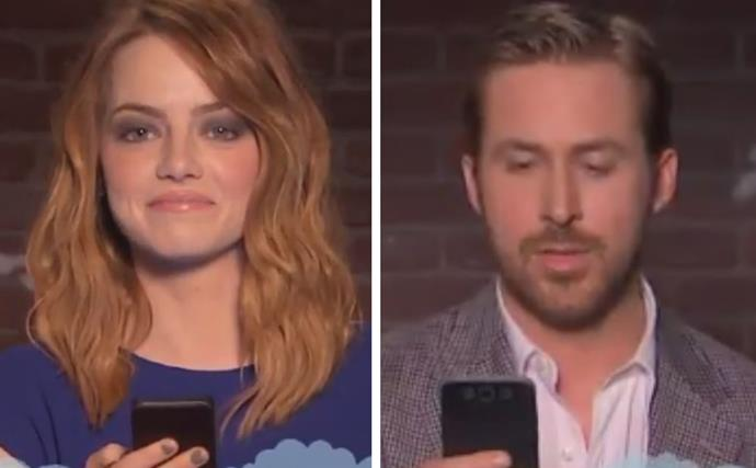 Emma Stone and Ryan Gosling Mean Tweets