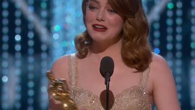 Golden girl! Emma Stone wins Best Actress Oscar for La La Land