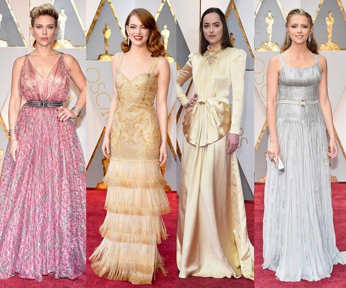Oscars, 89th Academy Awards, Emma Stone, Dakota Johnson, Scarlett ohansson