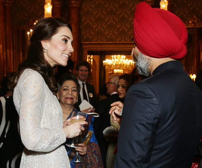Kate was seen to happily chat with guests at the event.