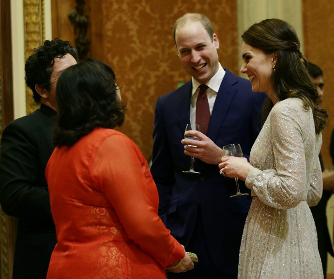 The royals were at the event to celebrate Britain's ties with India.